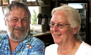 John Calderazzo and Sue Ellen Campbell work together to spread the word about climate change.