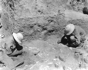 Excavation at the Lindenmeier site in the 1930s.