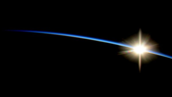 ISS, astronaut, sunrise from space