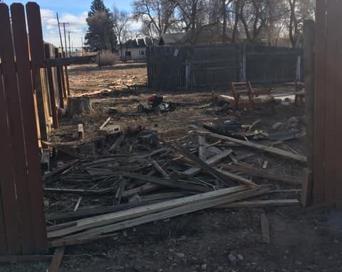 Main Street Wellington fence destroyed by hit and run