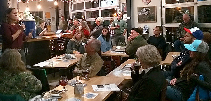 *Picture above: Executive Director Jennifer Kovecses from the Coalition for the Poudre River Watershed discussing wildfire restoration at a 2018 Pub Talk hosted by Maxline Brewing and the Poudre Heritage Alliance. Copyright © 2018 Poudre Heritage Alliance, All rights reserved.