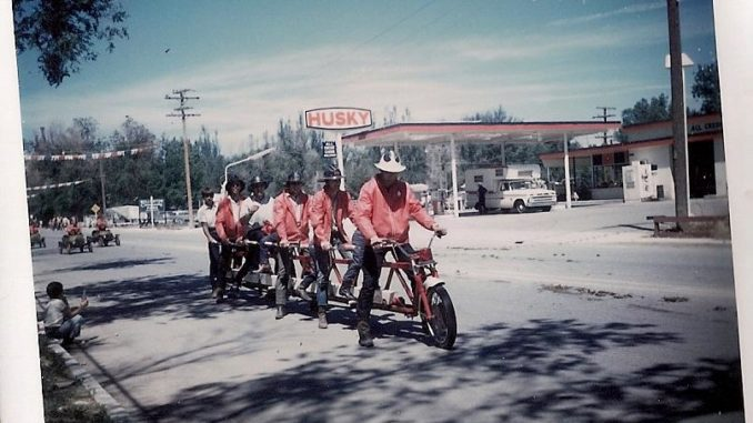 Photo of Well-O-Rama parade, 1971, provided by Colleen Babitz taken by Prue McNaney