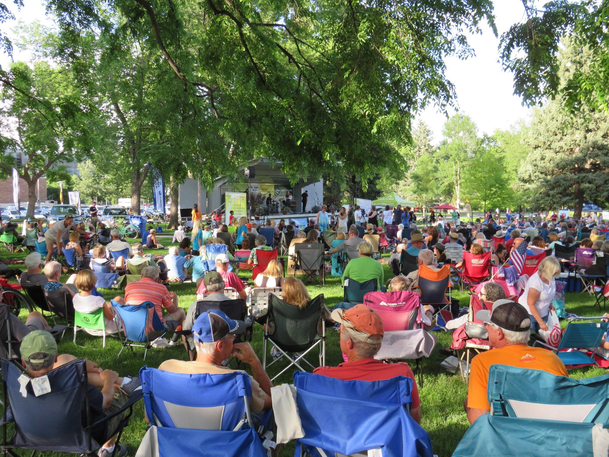 The crowd enjoys a wonderful evening at the 2018 Lagoon Summer Concert Series.