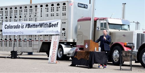 Governor Jared Polis speaks to the importance of Colorado's beef industry and its future.