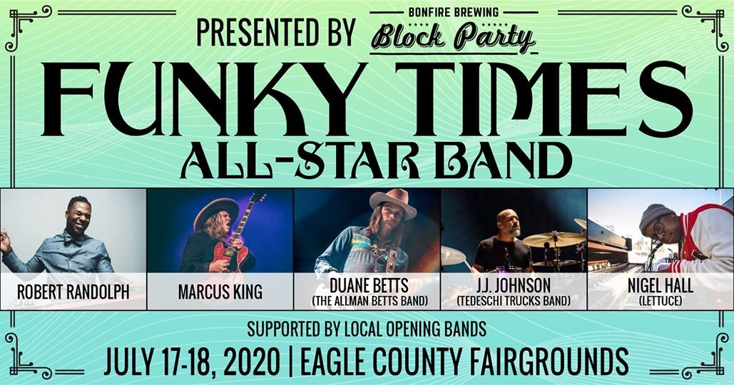 The Funky Times All-Star Band to Perform at Eagle County Fairgrounds